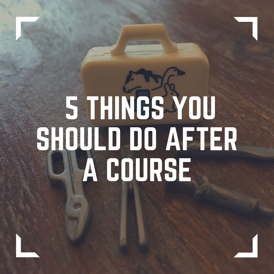 5 things you should do after a course   copy